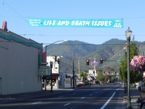 Our banner downtown