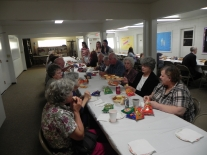The church provided dinner on Saturday