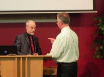 The preachers talking