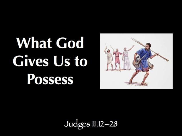 Judges 11.12-28