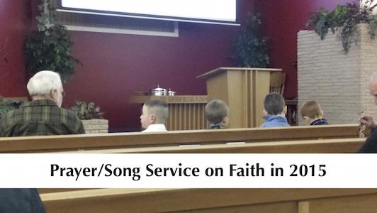 PrayerSongServiceOnFaithIn2015