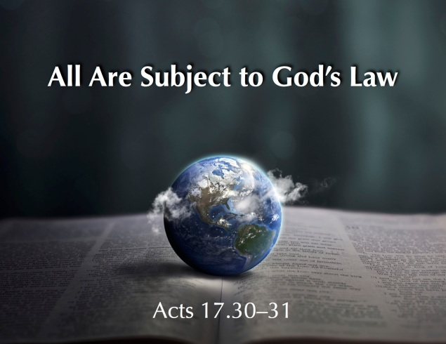 Subject Gods Law