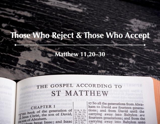 Matthew 11.20-30 Images