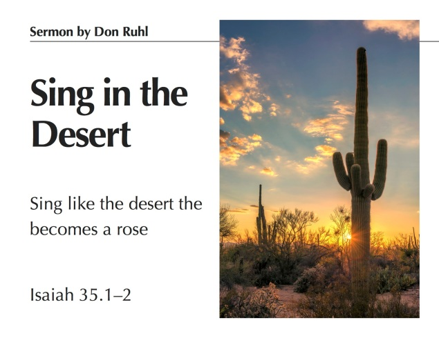Sing in the Desert Images