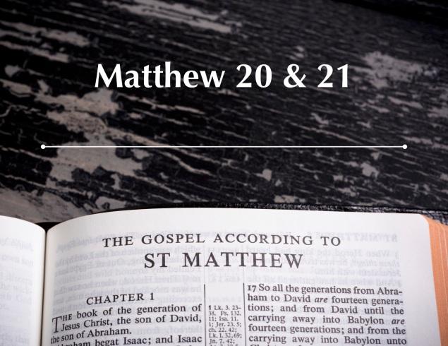 Matthew 20 & 21 Images