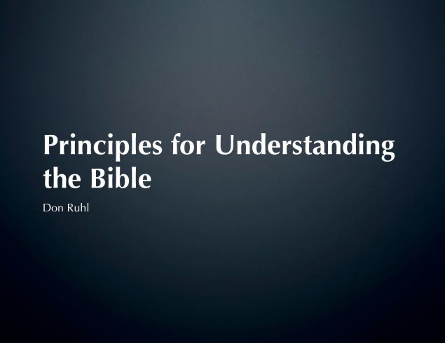 Principles for Understanding Bible Image