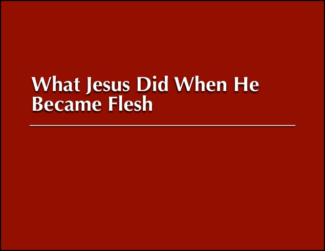 Jesus Became Flesh