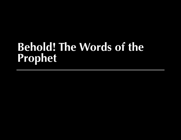 Words of the Prophet Image