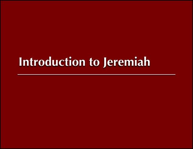 Jeremiah Image